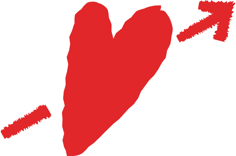 heart with  arrow Clipart illustration in PNG, SVG