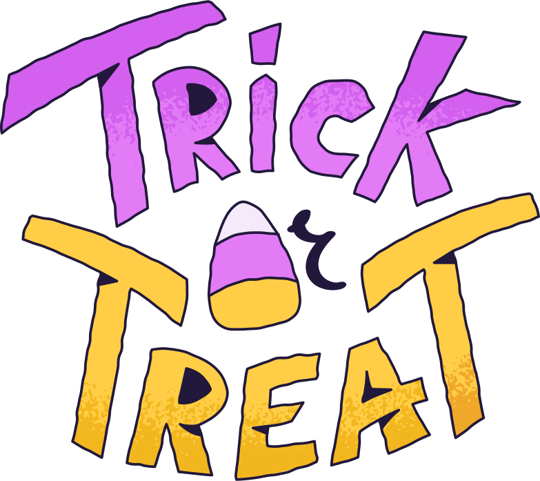 trick or treat Clipart illustration in PNG, SVG