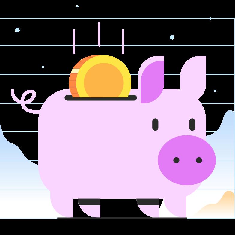 お金を節約する のPNG、SVGクリップアートイラスト