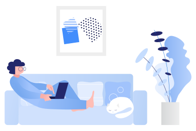 style Remote work from sofa images in PNG and SVG | Icons8 Illustrations