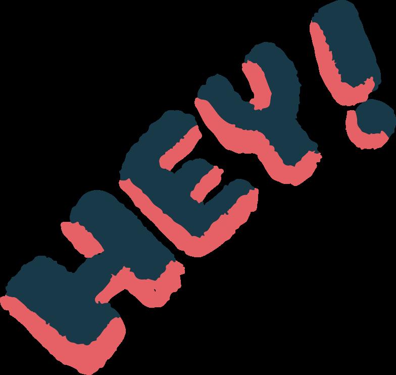 Hallo Clipart-Grafik als PNG, SVG