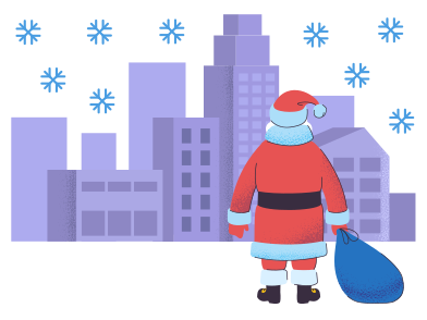 style Santa is coming in town images in PNG and SVG | Icons8 Illustrations