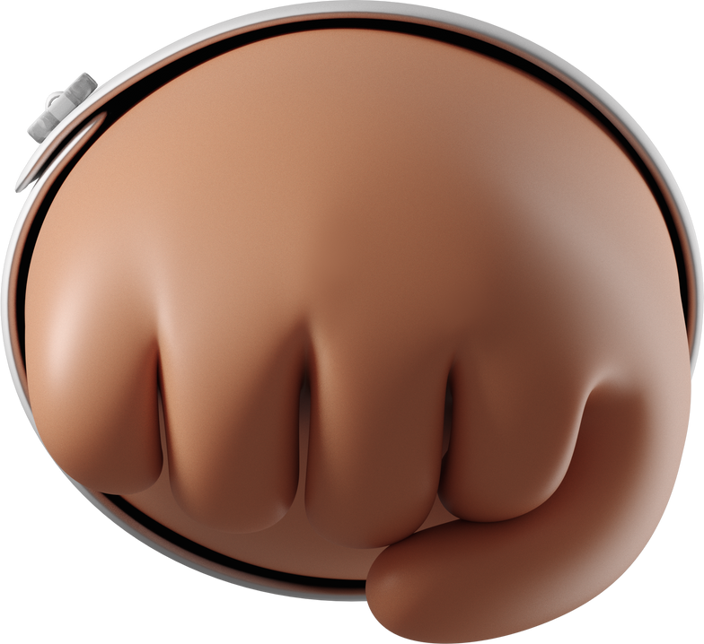 oncoming fist Clipart illustration in PNG, SVG