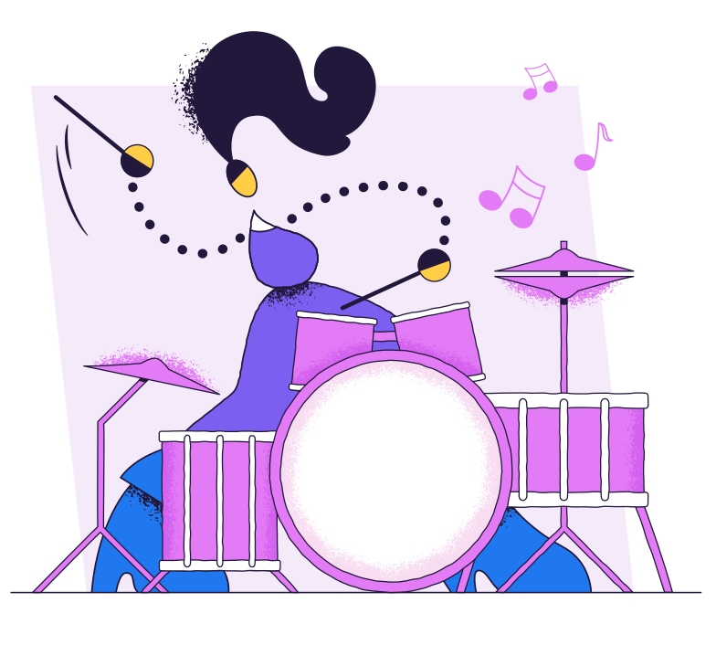 style Drummer Vector images in PNG and SVG | Icons8 Illustrations