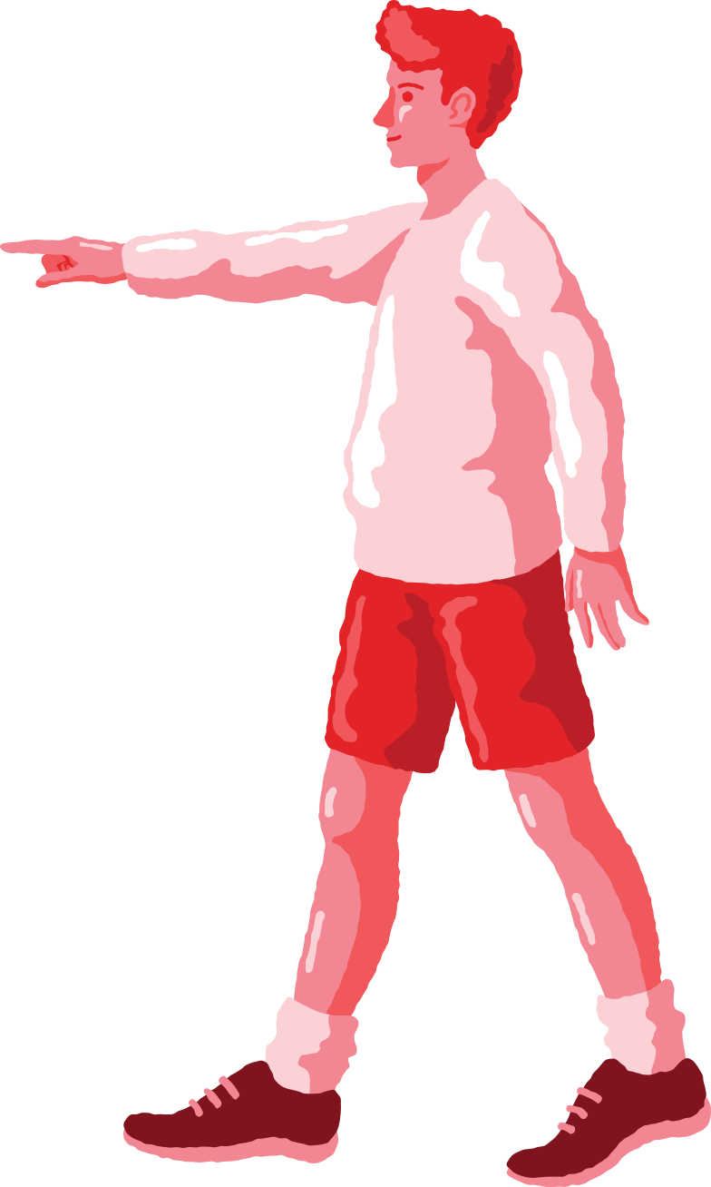 man pointing profile Clipart illustration in PNG, SVG