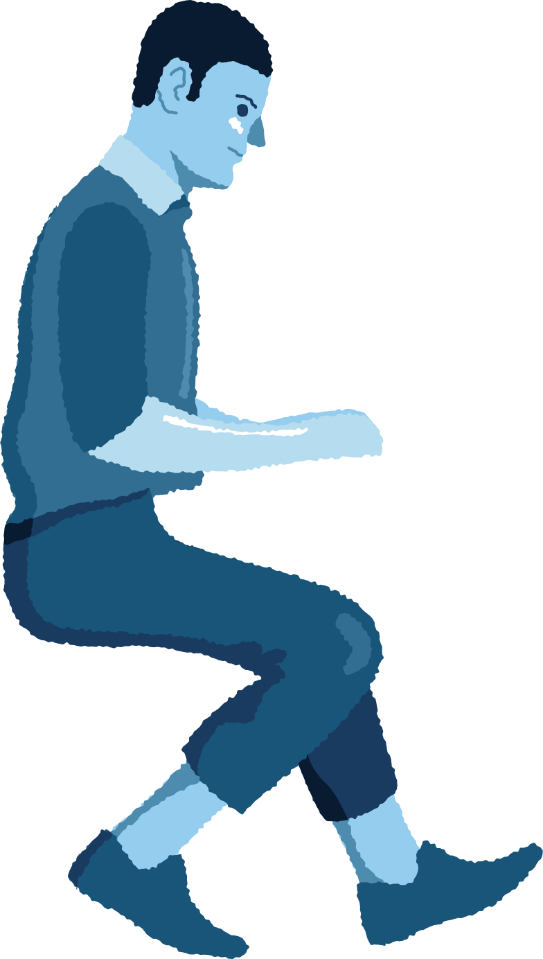 style man sitting profile Vector images in PNG and SVG | Icons8 Illustrations