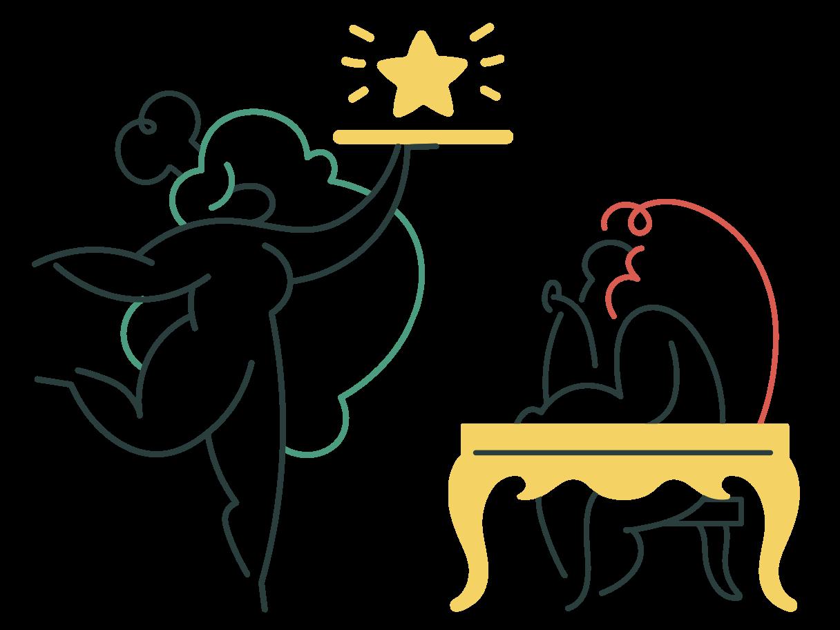 Excellent service Clipart illustration in PNG, SVG