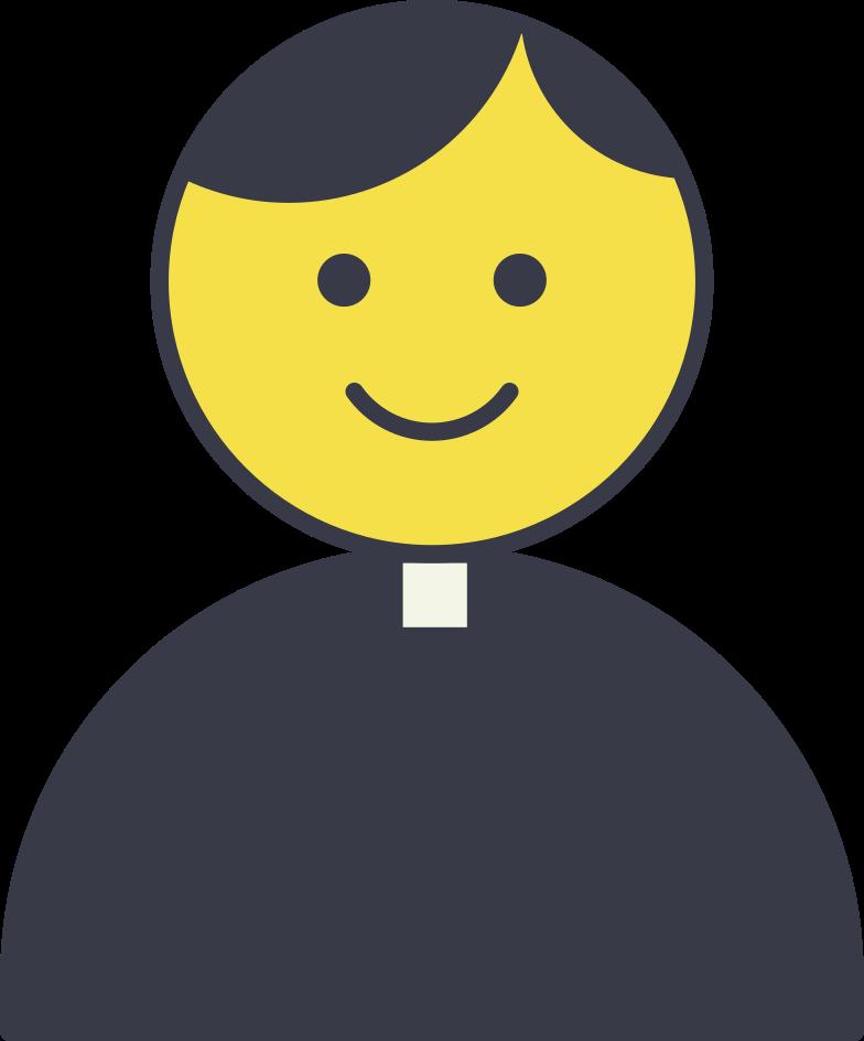 priest Clipart illustration in PNG, SVG