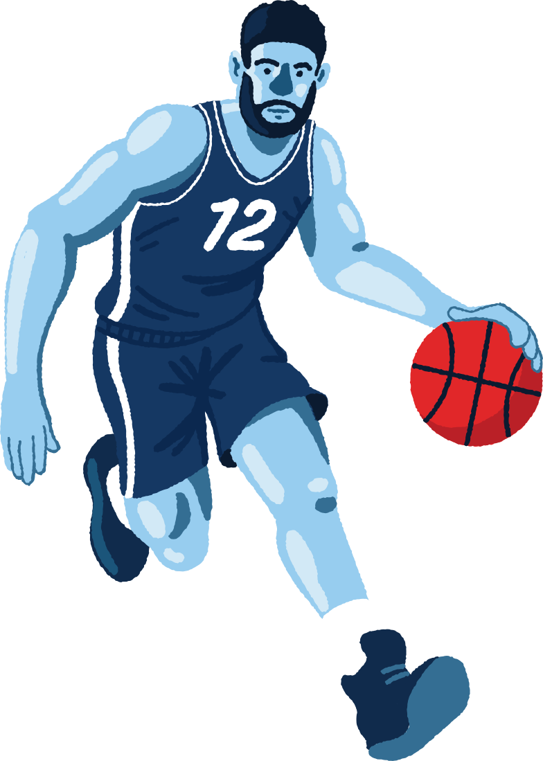 bassketball Clipart illustration in PNG, SVG