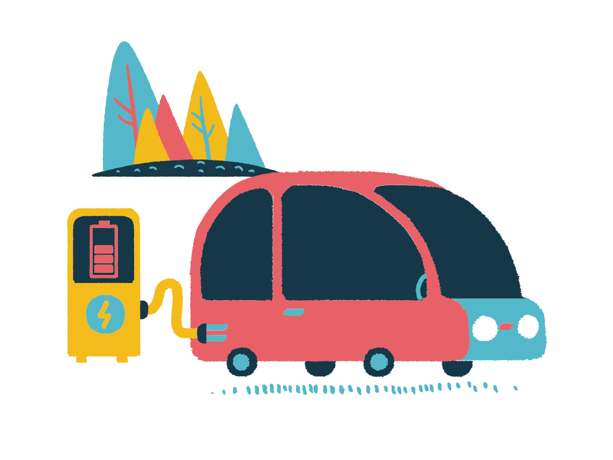 Station for electro car Clipart illustration in PNG, SVG