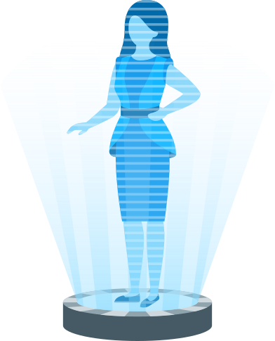 style woman in holographic projector images in PNG and SVG | Icons8 Illustrations