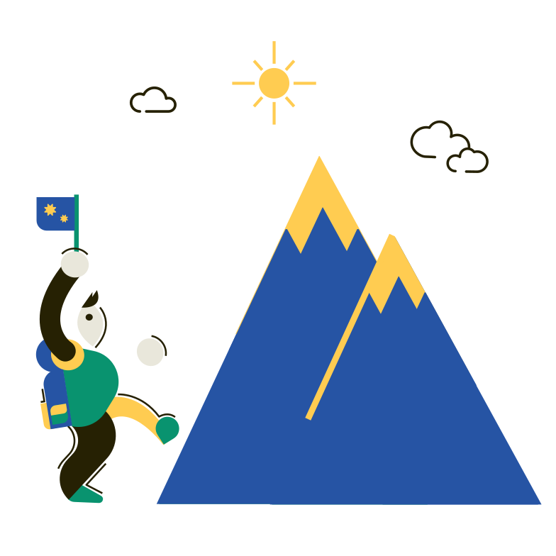 Mountaineer Clipart illustration in PNG, SVG