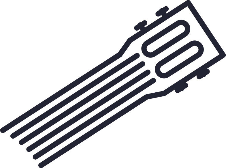guitar neck Clipart illustration in PNG, SVG