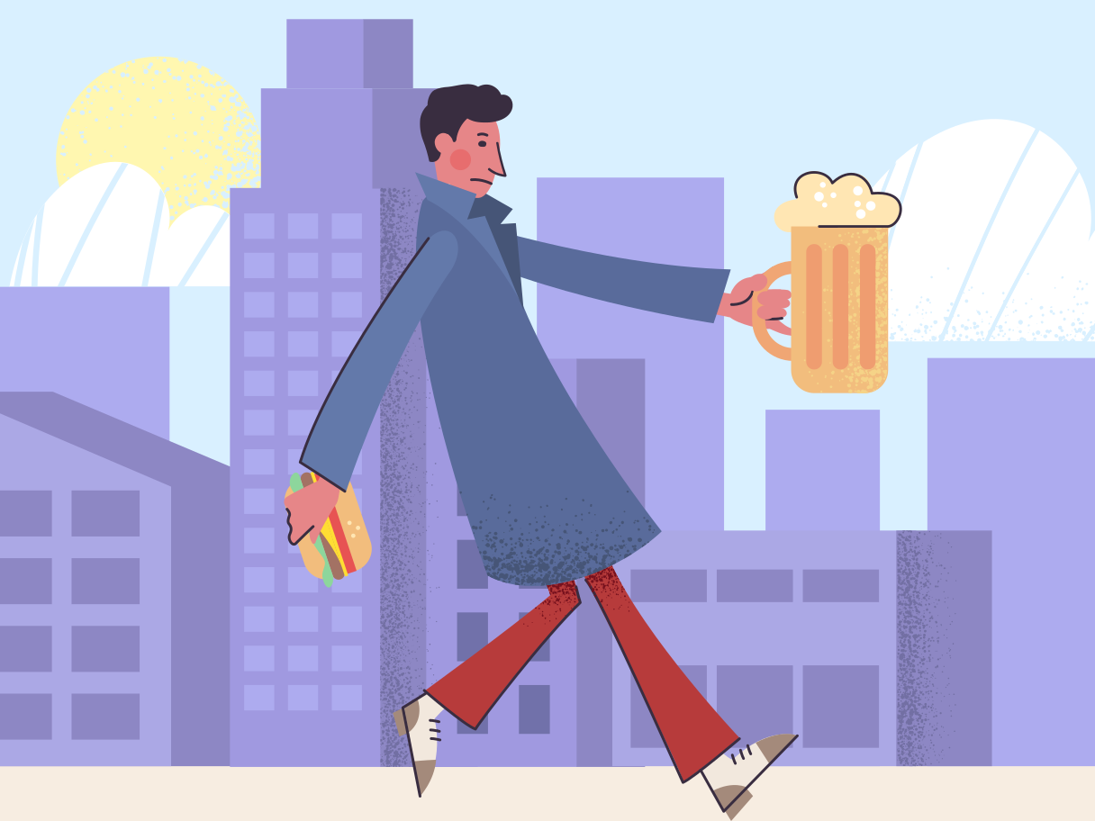 Holding big glass of beer Clipart illustration in PNG, SVG