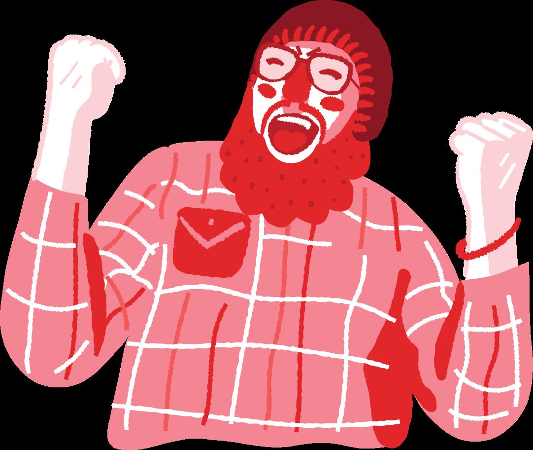 joyful man Clipart illustration in PNG, SVG