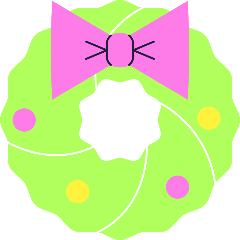 wreath Clipart illustration in PNG, SVG