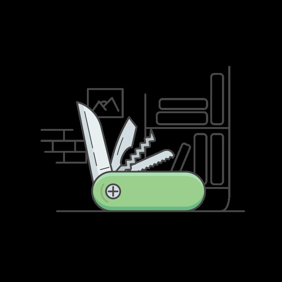Pocket knife Clipart illustration in PNG, SVG