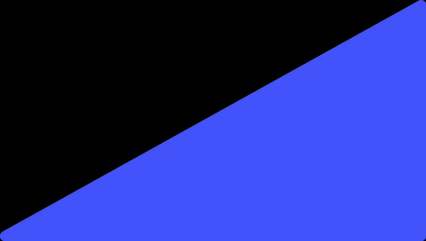 blue triagnle Clipart illustration in PNG, SVG
