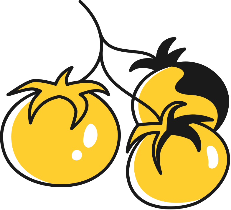 style tomatoes on a branch Vector images in PNG and SVG | Icons8 Illustrations