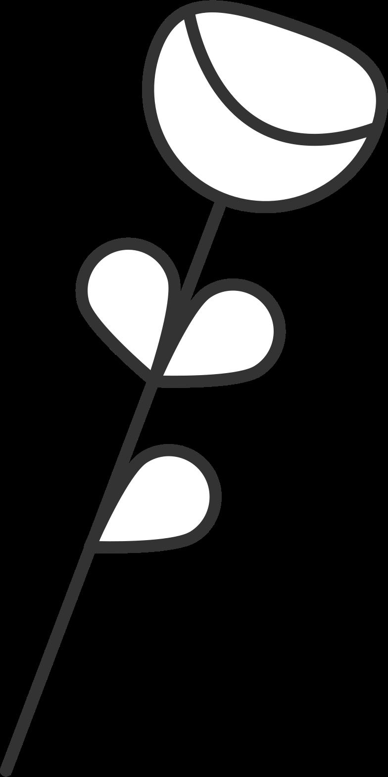 Esperando 3 flores Clipart illustration in PNG, SVG