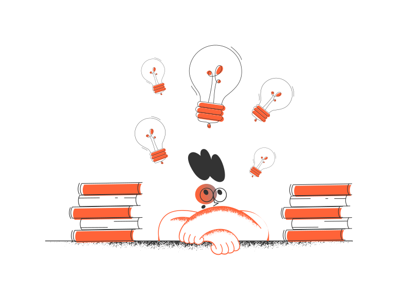 Ideas and education Clipart illustration in PNG, SVG