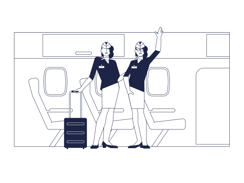 style Welcome Aboard The Airplane Vector images in PNG and SVG | Icons8 Illustrations