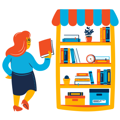 style Bookstore images in PNG and SVG | Icons8 Illustrations