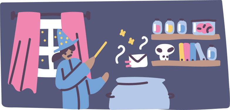 Magic, message sent Clipart illustration in PNG, SVG