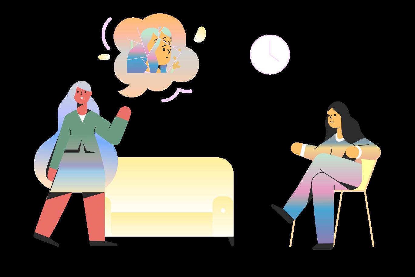 Psychologist session Clipart illustration in PNG, SVG