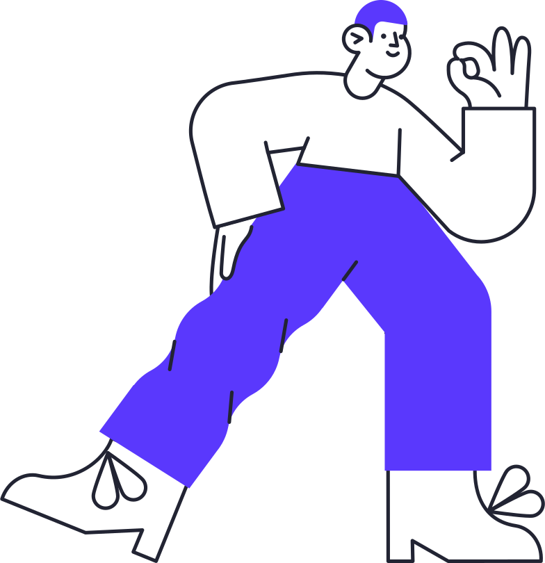approving man Clipart illustration in PNG, SVG