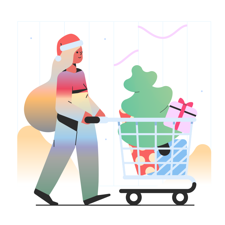 style Christmas shopping Vector images in PNG and SVG | Icons8 Illustrations