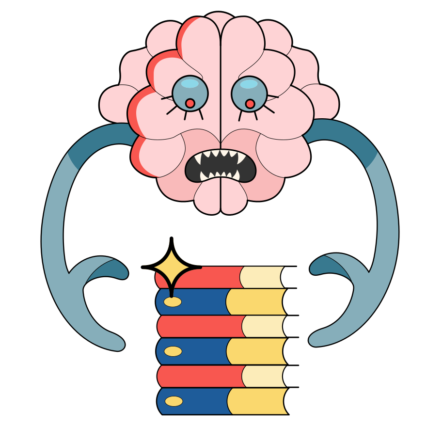 Passion for knowledge Clipart illustration in PNG, SVG