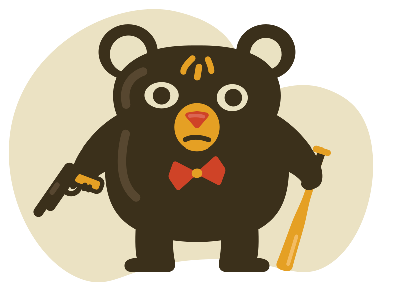 style Gangster bear Vector images in PNG and SVG | Icons8 Illustrations