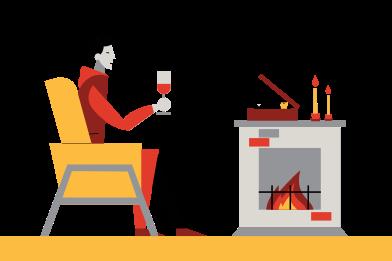 Иллюстрация Расслабляющий вечер в стиле  в PNG и SVG | Icons8 Иллюстрации