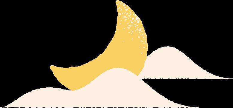 Ilustración de clipart de moon cloud en PNG, SVG
