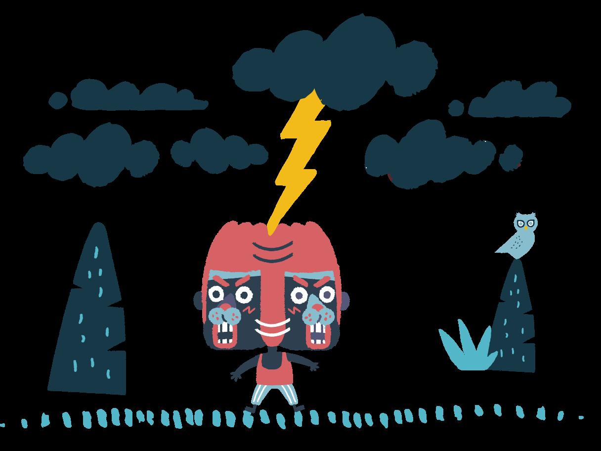 Ilustración de clipart de relámpago en PNG, SVG