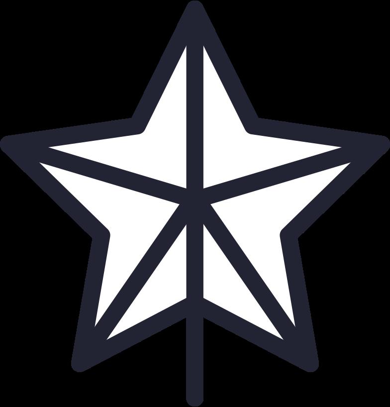 Ilustración de clipart de christmas tree star en PNG, SVG