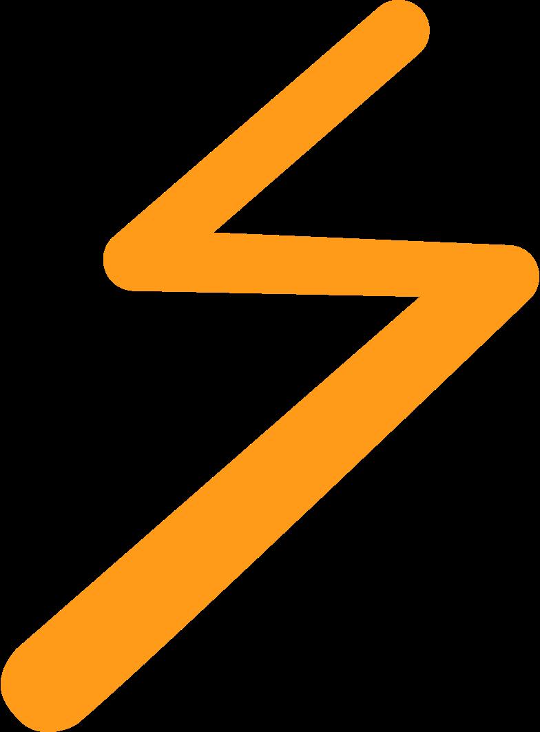 Faíscas elétricas Clipart illustration in PNG, SVG