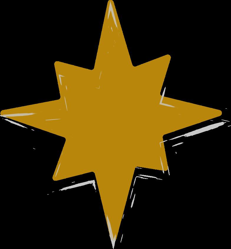 tk gold star Clipart illustration in PNG, SVG