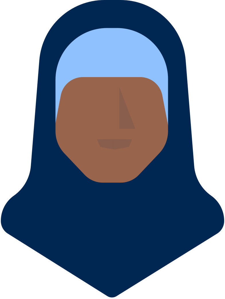 woman head in hijab Clipart illustration in PNG, SVG