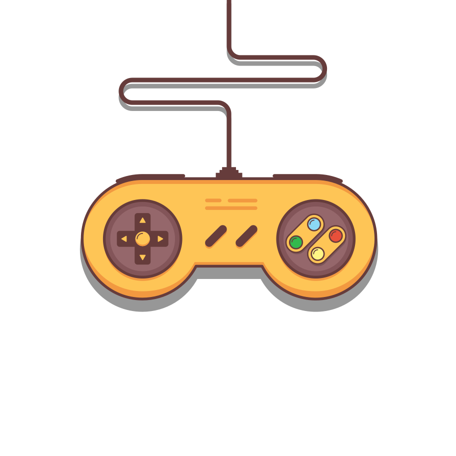 Super Nintendo gamepad Clipart illustration in PNG, SVG