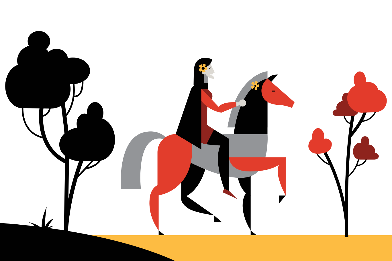 Horse riding Clipart illustration in PNG, SVG