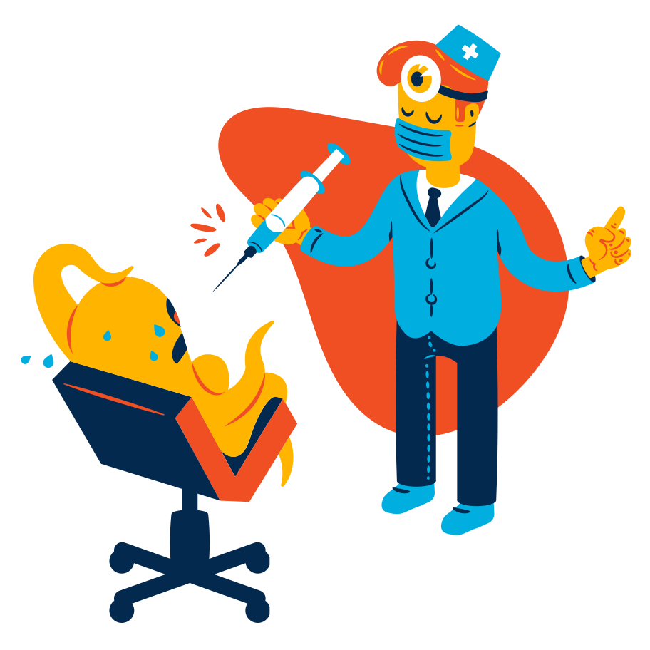 At the doctor's Clipart illustration in PNG, SVG