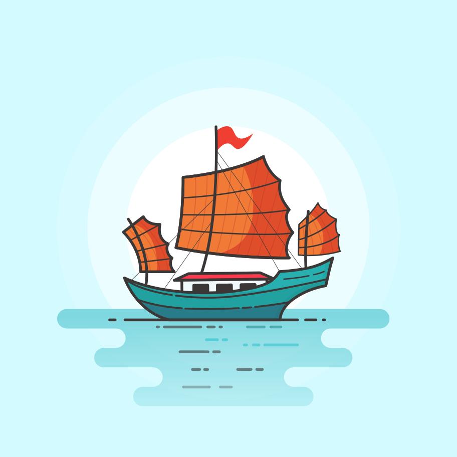 Junk boat Clipart illustration in PNG, SVG