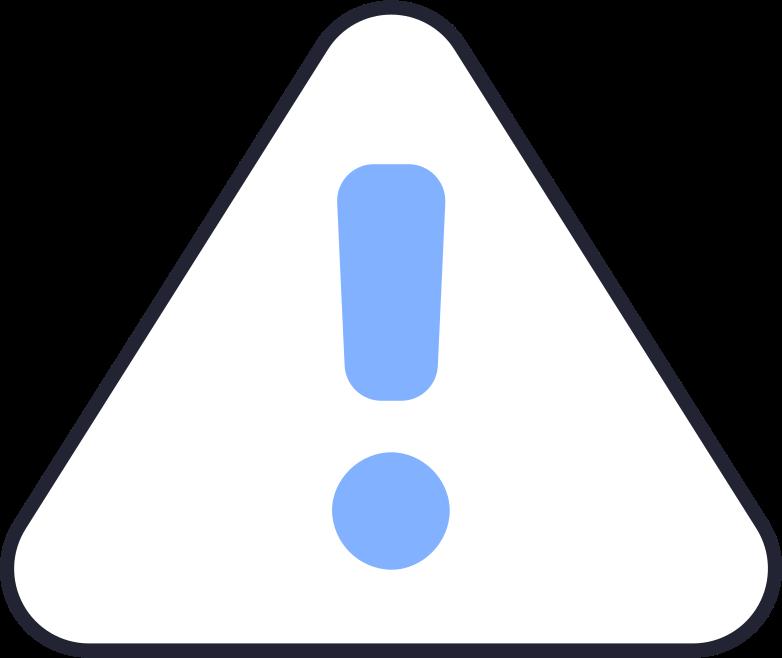 warning sign Clipart illustration in PNG, SVG