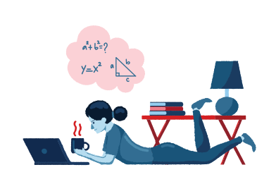 style Studying from home images in PNG and SVG | Icons8 Illustrations