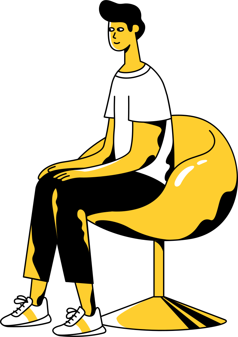 meeting  sitting man Clipart illustration in PNG, SVG