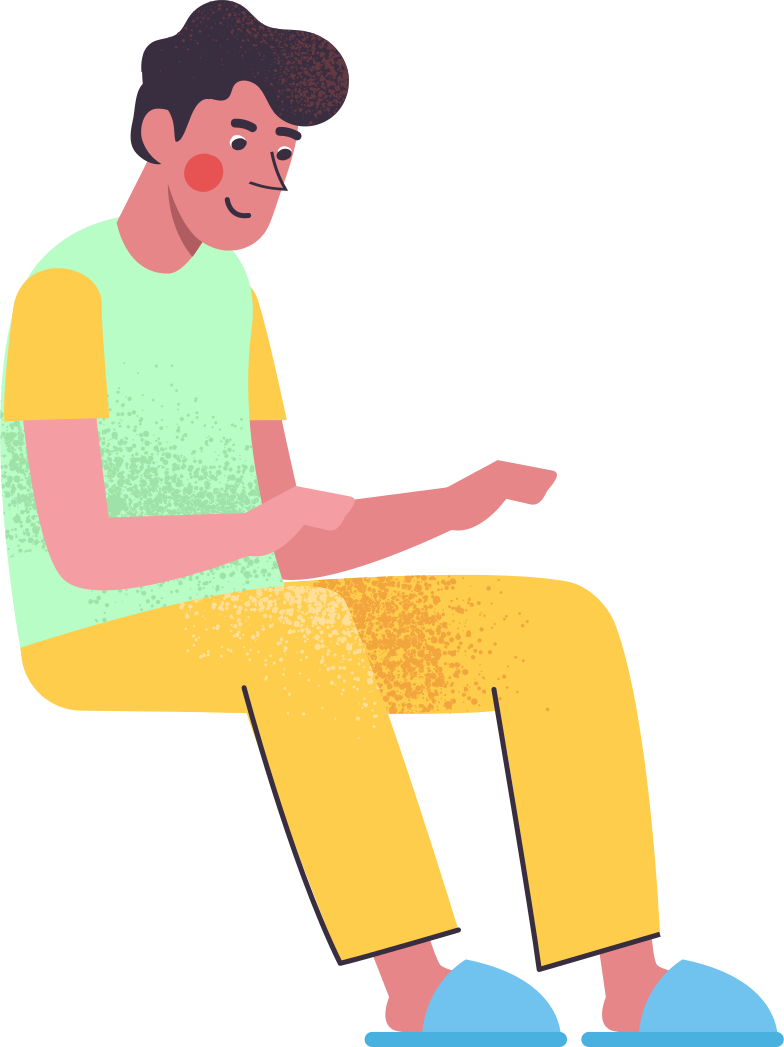 man-seating Clipart illustration in PNG, SVG