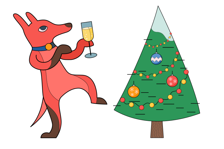 Christmas eve party hard Clipart illustration in PNG, SVG