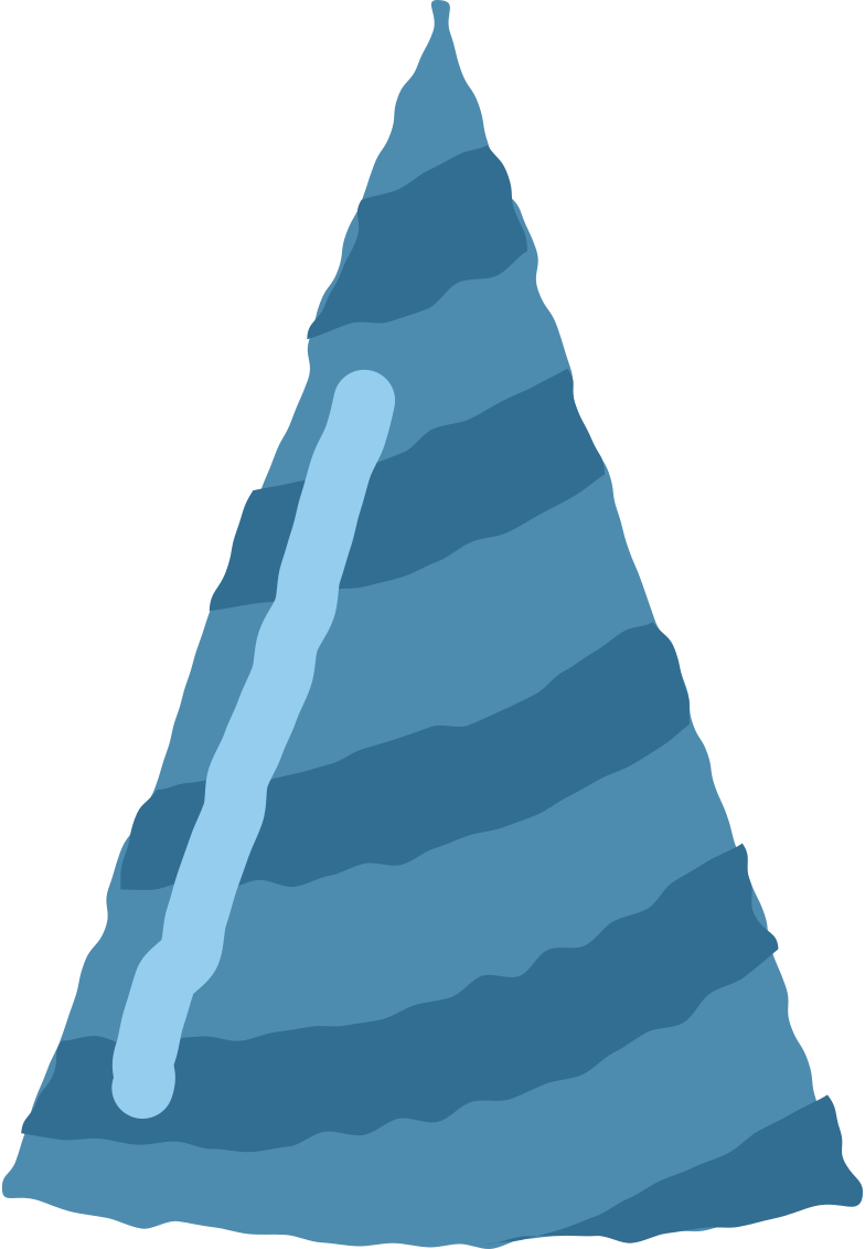 Ilustración de clipart de birthday cap en PNG, SVG
